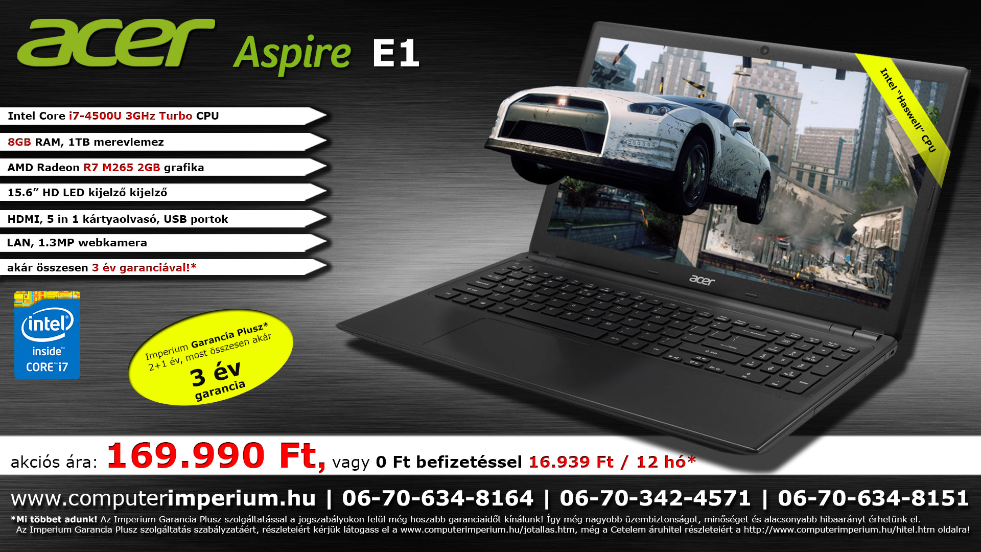 Acer Aspire E1 572G notebook, laptop (NX.MJREU.005), 8GB RAM-mal!!!