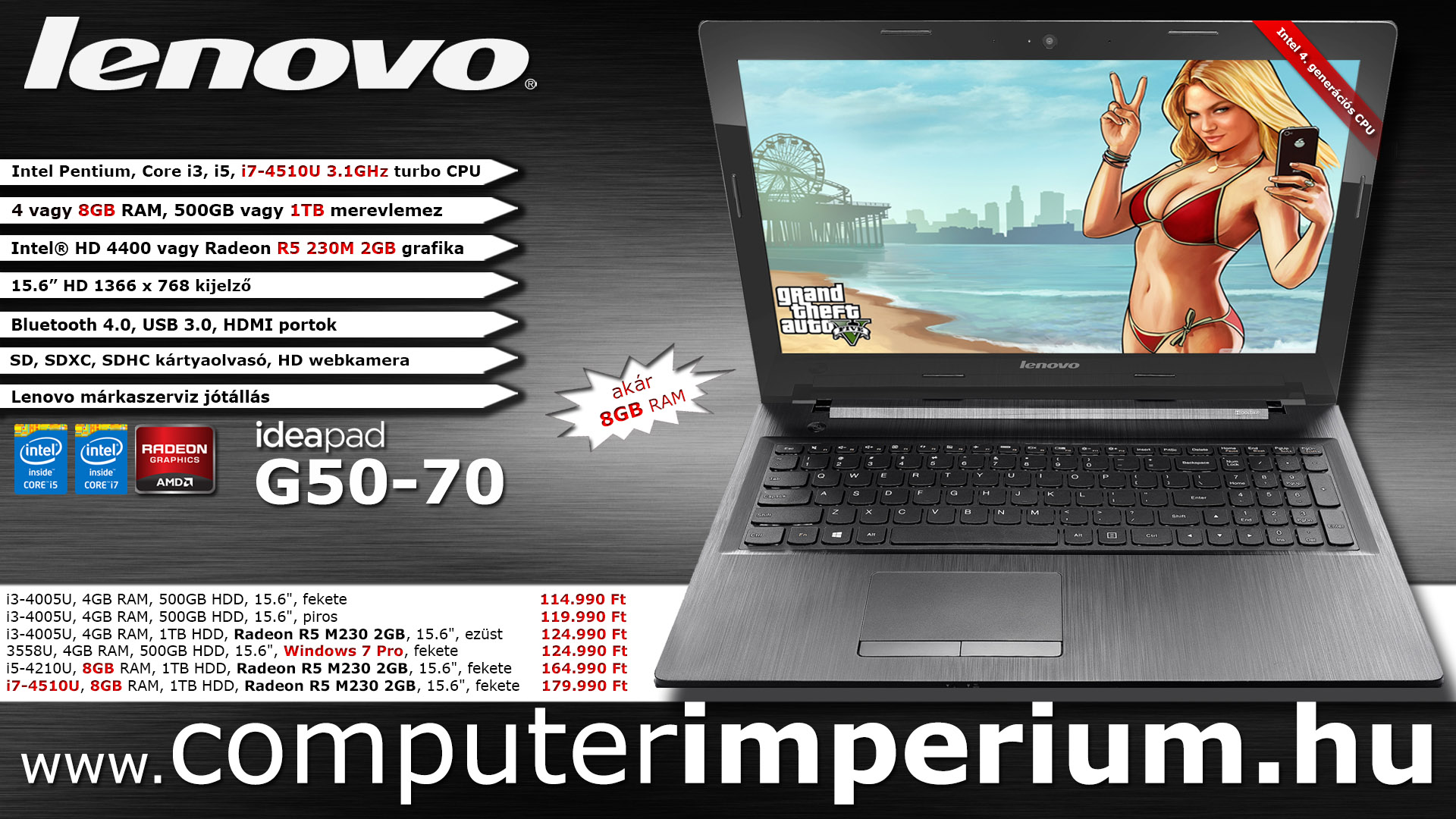 Lenovo IdeaPad G50-70 notebook, laptop (59-424287_8GB), 8GB RAM-mal!!!