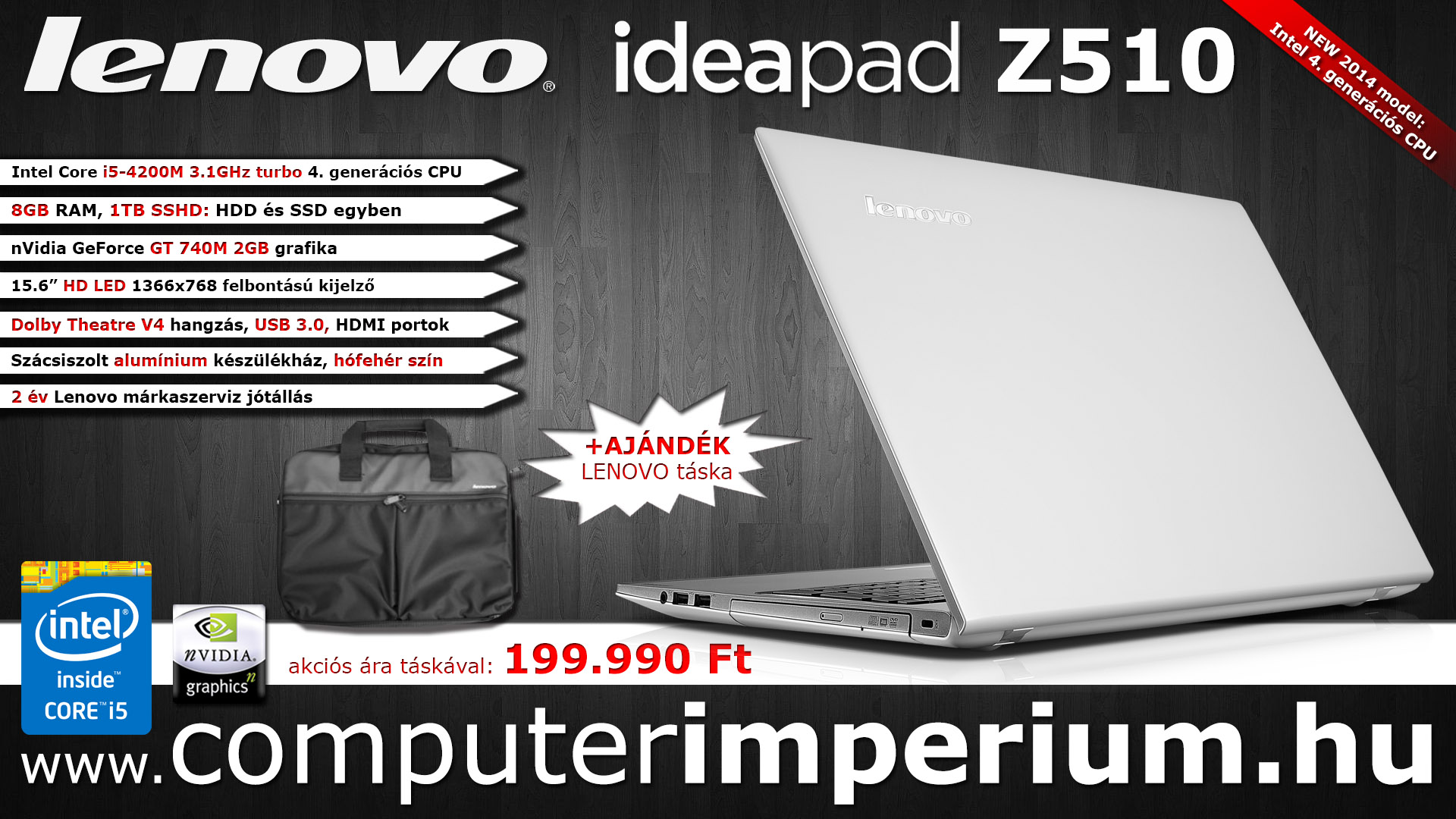 Lenovo IdeaPad Z510 notebook, laptop (59-408812_NBT), 8GB RAM-mal!!!