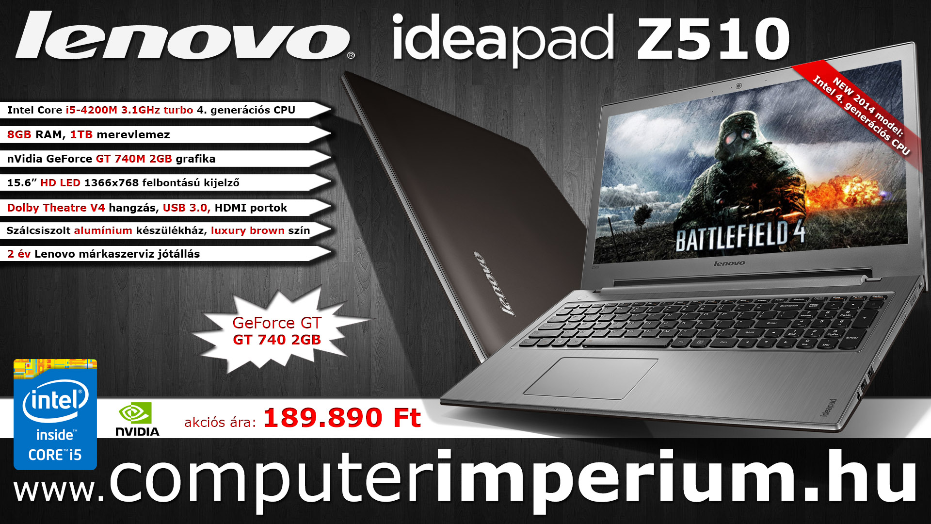 Lenovo IdeaPad Z510 notebook, laptop (59-403846), 8GB RAM-mal!!!